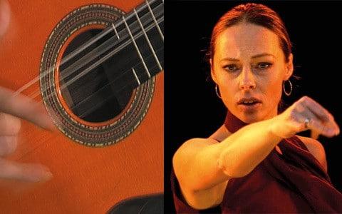 "Konzertprogramm der Flamencogruppe ""Gota de Fuego"""