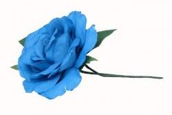 Haarblume  Blau Draht
