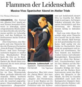 Pressebericht Gota de Fuego Flamenco
